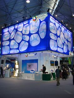 Exhibition stand Rosnano. ExpoForce.ru by ivan fomin, via Behance