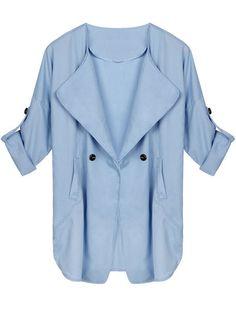 Women Casual Plus Size Long Sleeve Pocket Windbreaker Cardigan — 13.18 € : Women Casual Plus Size Long Sleeve Pocket Windbreaker Cardigan