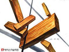 Interior Design Renderings, Marker, Wood Patterns, Wood Texture, Drawings, Industrial Design, Sketches, Markers, Sketch