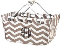 Monogrammed Personalized Taupe Chevron by MonogramCollection, $26.00 Game Day Market Basket Perfect for tailgating