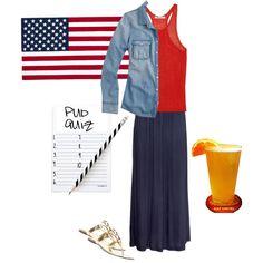 """America Themed Pub Quiz 7/1/13"" by jennicrack on Polyvore"