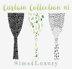 Sims4Luxury: Curtain Collection 1 • Sims 4 Downloads