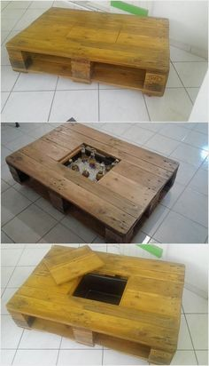 Setting the wood pallet table with storage is getting quite a lot common in almost all the houses. Such wood pallet tables can be suitably used for playing games or dining purposes. But at the same time it do comprise the storage which you can use for storing important accessories.