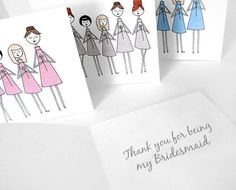 Thank you for being my bridesmaid cards