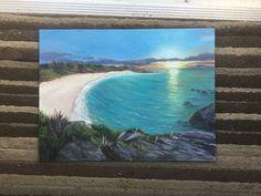 """Horseshoe Bay sunrise, 11x13"""", acrylic"""