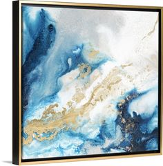 Square abstract art with glittery shades of blue with gold and silver all running together. Glittery Turquoise and Gold Canvas Wall Art by Jason Jarava. Abstract Ocean Painting, Giraffe Painting, Abstract Wall Art, Canvas Wall Art, Canvas Prints, Diy Canvas, Blue Abstract, Framed Prints, Gold Wall Art