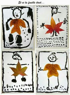 Leaf people | kinder art | fall art projects for kids | elementary art lessons | art class k-8
