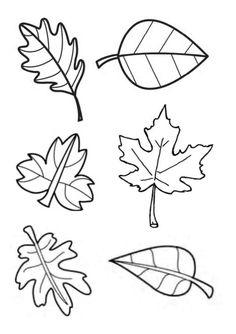 Gabarit - Feuilles d'automne pour tableau collectif                                                                                                                                                                                 Plus