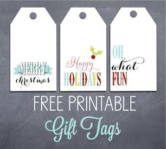 The Social Home: FREEBIES | Printable Holiday Tags