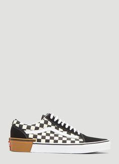 fc73b01be5 VANS Gum Block Checker Authentic Lace-up Sneakers in Black.  vans  shoes