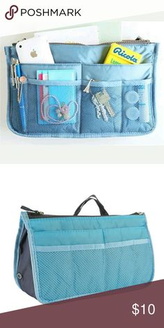 Light Blue Purse Organizer Easily switch purses with this organizer.   If you're always in a rush like me,  slip from one purse to another.  Convenient and easy. Bags Travel Bags