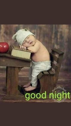 Good Night -- Young child asleep at an antique school desk Good Night Qoutes, Good Night Love Images, Good Night Prayer, Good Night Friends, Good Night Blessings, Good Night Messages, Good Night Wishes, Good Night Sweet Dreams, Good Night Image