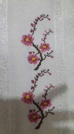 The most beautiful cross-stitch pattern - Knitting, Crochet Love Cross Stitch Letters, Cross Stitch Bookmarks, Cross Stitch Borders, Cross Stitch Samplers, Modern Cross Stitch, Cross Stitch Flowers, Cross Stitch Designs, Cross Stitching, Cross Stitch Embroidery