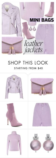"""""""Leather Jacket//Mini Bag"""" by shoaleh-nia ❤ liked on Polyvore featuring River Island, Urban Expressions and Catherine Catherine Malandrino"""