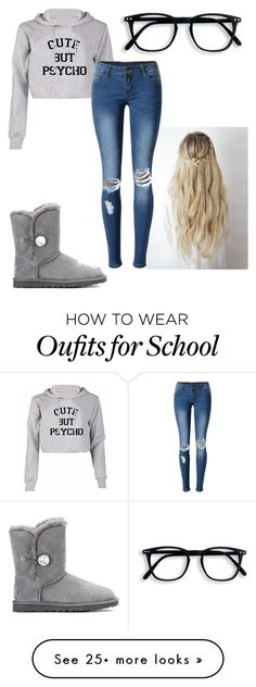 """""""Cute school outfit"""" by rickibetts on Polyvore featuring WithChic and UGG"""