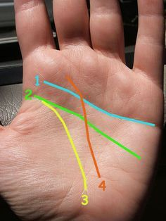 How to Read Palm Lines. Palm reading, also known as palmistry, involves looking at the shapes of your hands and the lines on them to possibly tell you about your life and personality. While there is no clear evidence that your palm lines. Just For Fun, Just In Case, Choses Cool, Palm Lines, Vie Motivation, Mudras, Palm Reading, Tips & Tricks, Things To Know