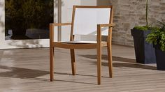 Regatta Mesh Dining Chair | Crate and Barrel