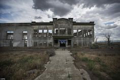 Sites including one in Hanford, Washington, will be part of a new national park remembering their part in creating the atomic bomb. Above, the remains of Hanford High School, which was abandoned when the government used eminent domain to take over the town of Hanford