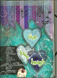 journal # art journal page # art journaling # mixed media -Pinned by Debbie Roberts --------------------------------- (Love the colors, love the shapes! Love the thoughts! Art Journal Pages, Junk Journal, Art Journals, Visual Journals, Mixed Media Journal, Mixed Media Canvas, Mixed Media Collage, Collage Art, Kunstjournal Inspiration