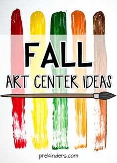 Ideas to liven up your Art Center this Fall to inspire your little Pre-K artists. Collage materials, how to mix paint colors for Fall hues, and more...