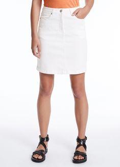 MARCS   Skirts & Shorts - BRIGHTON DENIM SKIRT Short Skirts, Mini Skirts, Brighton, Denim Skirt, Button Up Shirts, Shop Now, High Waisted Skirt, September, Women Wear