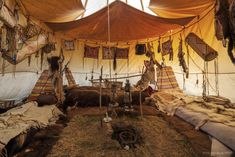 Tipi interior- French Indian Camp