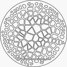 Mathematical 2D pattern, Round gradient Voronoi 2D