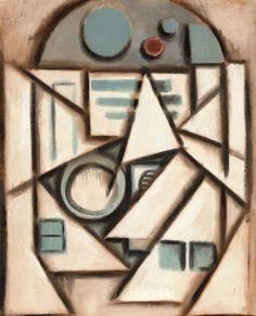 Cubist R2D2, Star Wars Pop Art.