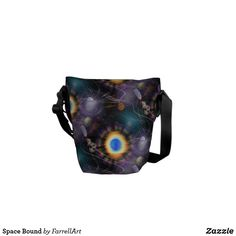Shop Space Bound Messenger Bag created by FarrellArt. Black Space, Animal Skulls, Stars And Moon, Colorful Interiors, Messenger Bag, Amethyst, Duffle Bags, Hand Bags, Mini