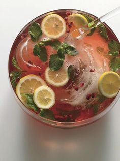Pomegranate Champagne Punch - 24 Bubbly Cocktails For Your Holiday Party