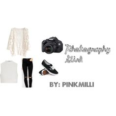 Photography Girl by pinkmilli on Polyvore featuring Elizabeth and James, ASOS, Vans and Eos