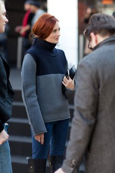 Bored of winter dressing? Click for some New York street style snaps.