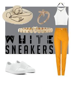 """""""White Sneakers Contest Entry"""" by gingergurf ❤ liked on Polyvore featuring Sretsis, Eugenia Kim, Vanessa Mooney, Eddie Borgo and Bjørg"""