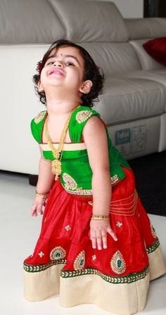 View our baby girl clothing collection here. Lovely Baby In Mugdha S Dress Kids Frocks Kids Lehenga Kids gown baby. Kids Saree, Kids Lehenga Choli, Anarkali Lehenga, Dresses Kids Girl, Kids Outfits, Baby Dresses, Baby Outfits, Traditional Dresses Images, Indian Baby Girl