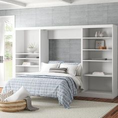 Mason Murphy Bed Couleur: Blanc, Taille: Queen Murphy Bed, Murphy Bed Desk, Murphy Bed Plans, Murphy Bed Office, My New Room, My Room, Modern Murphy Beds, Bed Back, Guest Room Office