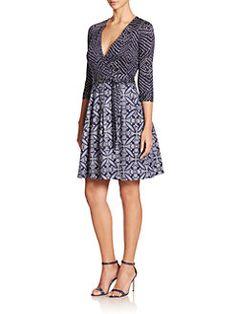 Diane von Furstenberg - Jewel Printed Cotton Wrap Dress