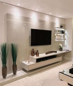 29 Inspiring TV Wall Panel Design Ideas You Must Have - The living room is one of the rooms in the house where we spend the most time. It& the place to rest on the couch, watch a movie with family and frie. Modern Tv Room, Modern Tv Wall Units, Modern Living, Minimalist Living, Tv Console Modern, Modern Wall, Tv Unit Decor, Tv Wall Decor, Home Room Design