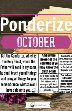 Looking for scripture ideas to help you meet your ponderizing goal this month? Try these #LDSconf