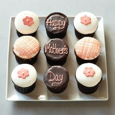 Last minute Mother's Day gift - gourmet cupcakes from William-Sonoma. Yum.