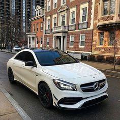 Instagram media by mercedesbenzarea - Mercedes Benz CLA45 AMG ⚪️ #mercedesbenzarea #white #love #sex #beastmode #cla #cla45amg #cla45