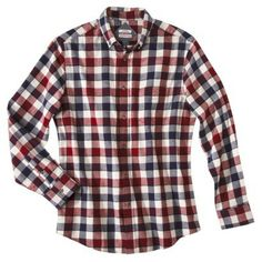 Merona® Men's Long Sleeve Flannel Button Down - Dark Red Pretty Pictures, Pretty Pics, Work Shirts, Dark Red, Button Downs, Menswear, Men Casual, Mens Tops, Flannels
