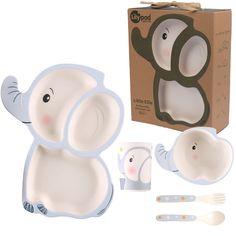 Little Ellie Elephant - Bamboo Fiber Dinnerware Set