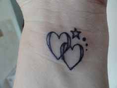 hearts and star tattoos - Google Search