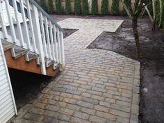 Belgard Paver Pathway, Front Path, Pathways, Sidewalk, Patio, Outdoor Decor, Home, Paths, Side Walkway