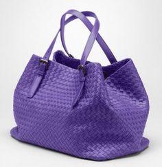 Bottega Veneta Violet Nappa Tote Bag #bottegaveneta #handbags