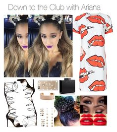 """Down to the Club with Ariana"" by jdyolaleye ❤ liked on Polyvore"
