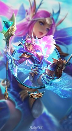 Wallpaper HD Odette Mobile Legendsis free HD Wallpaper Thanks for you visiting Odette mermaid princess Mobile legends Bang Bang HD Wallpap. Mobile Legend Wallpaper, Hero Wallpaper, Wallpaper Wallpapers, Iphone Wallpaper, Boxing Day, Mobiles, Bruno Mobile Legends, Chibi, Mermaid Skin