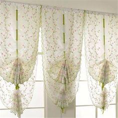 $4.66 - Cute Voile Door Window Curtain Room Sheer Drape Panel Floral Scarf Sheer Valance #ebay #Home & Garden