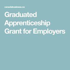 Graduated Apprenticeship Grant for Employers Graduation, Business, Program Management, Moving On, College Graduation, Prom