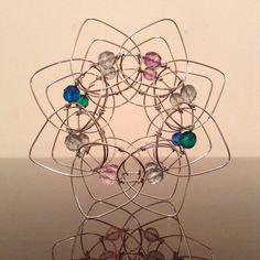 Czech Crystal LOTUS FLOWER Sun Catcher - 3d Wire Tibetan Mandala - Buddhist Meditation Tool -Fidget Toy Ornament -Magic Wreath Candle Holder
